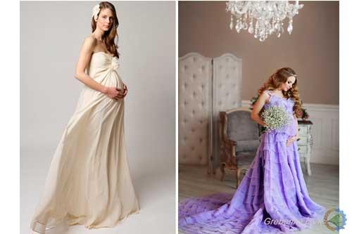 f7866bdf70c2628 Итак, каким же может быть вечернее платье для беременных с длинным шлейфом?  Поскольку самое главное в платье для беременных – это комфорт будущей мамы  и ...